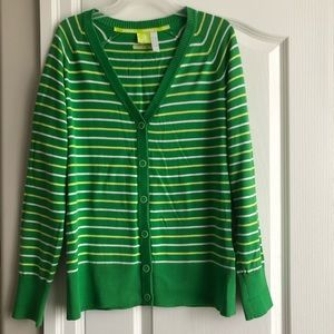 Adidas Cardigan/Sweater (Green and Yellow)